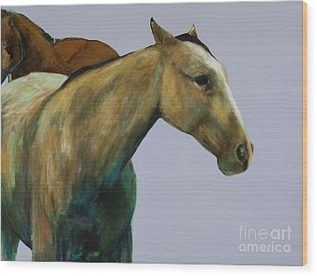 Buckskin Wood Print by Frances Marino