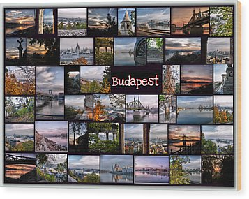 Budapest In October Wood Print by Janos Kovac