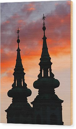 Wood Print featuring the photograph Budapest Sunset by KG Thienemann