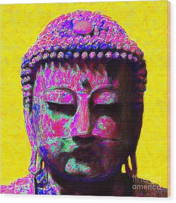 Buddha 20130130m168 Wood Print by Wingsdomain Art and Photography