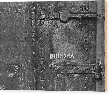Wood Print featuring the photograph Buddha by Laurie Stewart