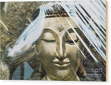 Buddha Protected Wood Print by Dean Harte