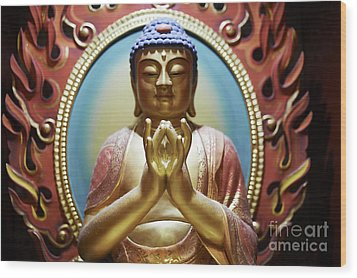 Buddha Tooth Relic Temple 1 Wood Print by Dean Harte