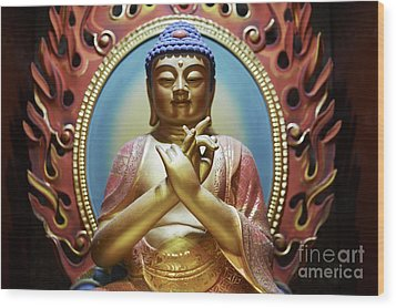 Buddha Tooth Relic Temple 3 Wood Print by Dean Harte