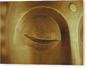 Buddhas Eye Wood Print