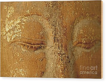 Buddha's Eyes Wood Print by Julia Hiebaum
