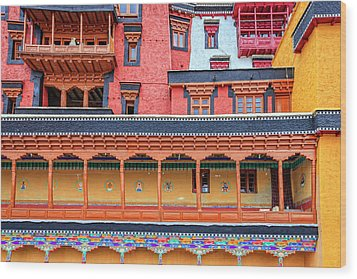 Wood Print featuring the photograph Buddhist Monastery Building by Alexey Stiop