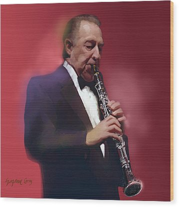 Buddy Defranco Clarinet Wood Print