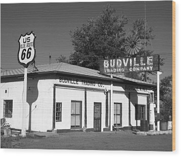 Budville Trading Co. Wood Print by Eric Foltz