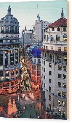 Buenos Aires Street I Wood Print by Bernardo Galmarini
