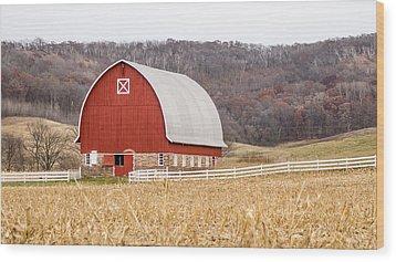 Wood Print featuring the photograph Buffalo County Barn by Dan Traun