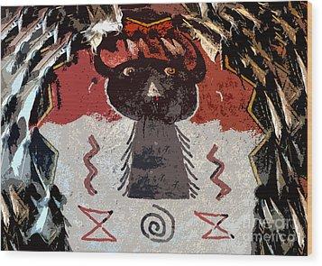 Buffalo Man Wood Print by David Lee Thompson