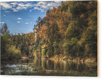 Buffalo National River Wood Print by James Barber