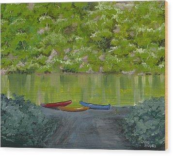 Buffalo River At Gilbert Landing Wood Print by Cathy France