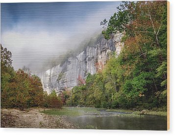 Buffalo River Autumn Wood Print by James Barber