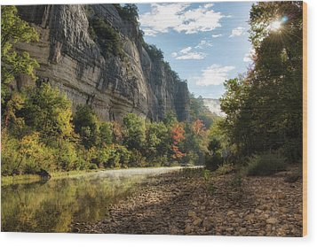 Buffalo River Morning Wood Print by James Barber