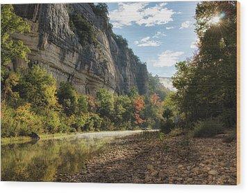 Buffalo River Morning Wood Print