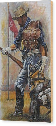 Buffalo Soldier Outfitted Wood Print