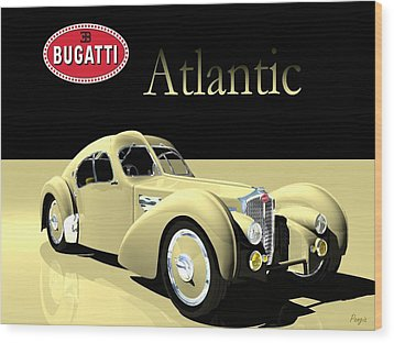 Bugatti Atlantic Wood Print