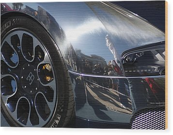 Bugatti Front Wood Print by Michael Albright