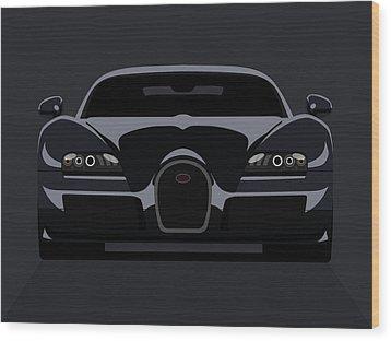 Bugatti Veyron Dark Wood Print by Michael Tompsett