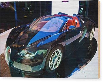 Bugatti Veyron Targa Wood Print