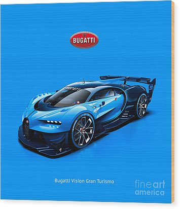 Bugatti Vision Gran Turismo Wood Print