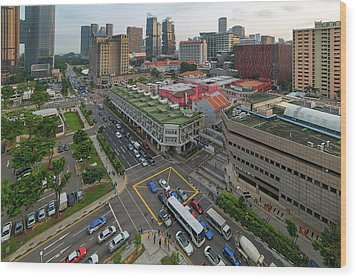 Bugis Village Junction In Singapore Entertainment District Wood Print by David Gn