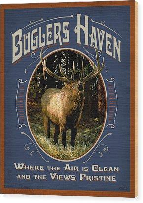 Buglers Haven Sign Wood Print