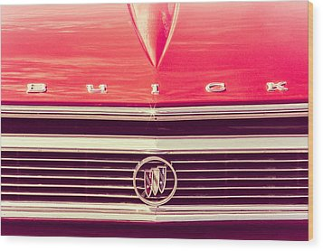 Buick Retro Wood Print by Caitlyn Grasso