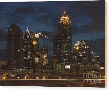 Wood Print featuring the photograph Building Boom Midtown Atlanta Construction Art by Reid Callaway