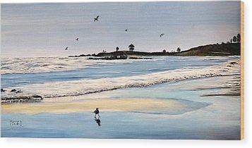Bull Beach Wood Print by Marilyn McNish