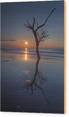 Bull Island Sunrise Wood Print