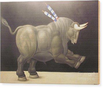 bull painting Botero Wood Print