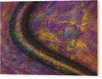 Bull Rust Wood Print by Paul Wear