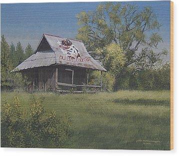 Bulldog Country Wood Print by Peter Muzyka