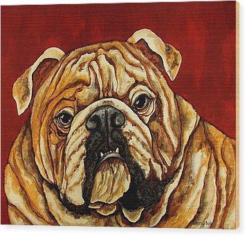 Bulldog Wood Print by Sherry Dole