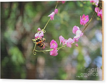 Wood Print featuring the photograph Bumble Bee1 by Megan Dirsa-DuBois