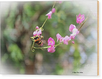 Wood Print featuring the photograph Bumble Bee2 by Megan Dirsa-DuBois