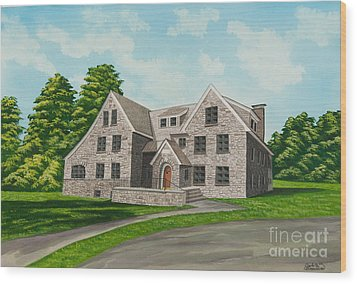 Bunch House Wood Print by Charlotte Blanchard
