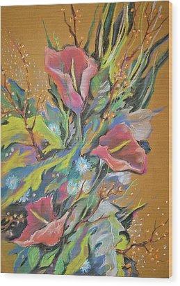 Bunch Of Flowers Wood Print by Olena Chernyshova