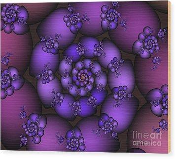 Bunch Of Grapes Wood Print by Jutta Maria Pusl