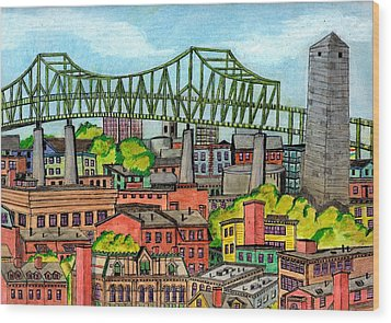Bunkerhill And Tobin Wood Print by Paul Meinerth