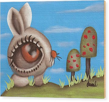 Bunny Bolita Wood Print by  Abril Andrade Griffith
