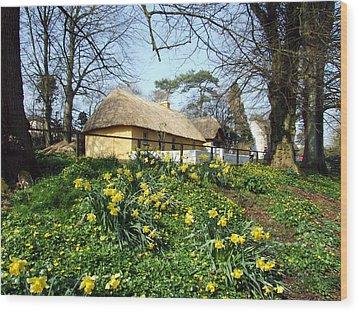 Bunratty Cottage Wood Print by John Quinn