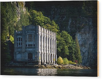 Buntzen Lake Power Station  Wood Print by Tom Buchanan
