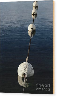 Wood Print featuring the photograph Buoy Descending by Stephen Mitchell