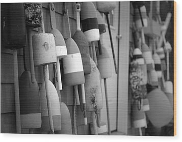 Buoys Wood Print by Eric Gendron
