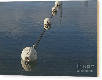 Wood Print featuring the photograph Buoys In Aligtnment by Stephen Mitchell