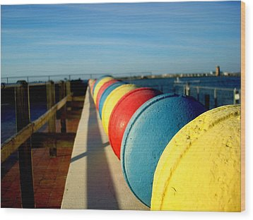 Buoys In Line Wood Print